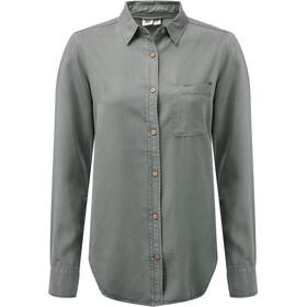 tentree Fernie Button-Up LS Shirt Dame castor grey